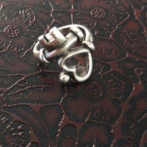 EUC James Avery key if my heart ring size 7.5